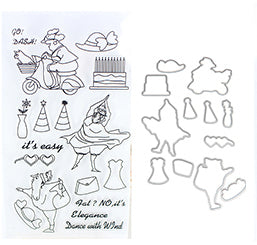 Dancing Fat Lady Die and Stamp Set