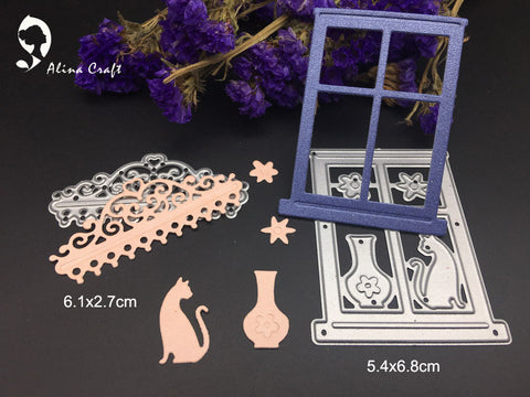 Cat in window die set