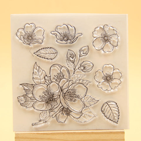 3D FLOWER COLLAGE STAMP SET