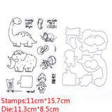 Dinosaur and Wooly Mammoth Stamp and Die Set
