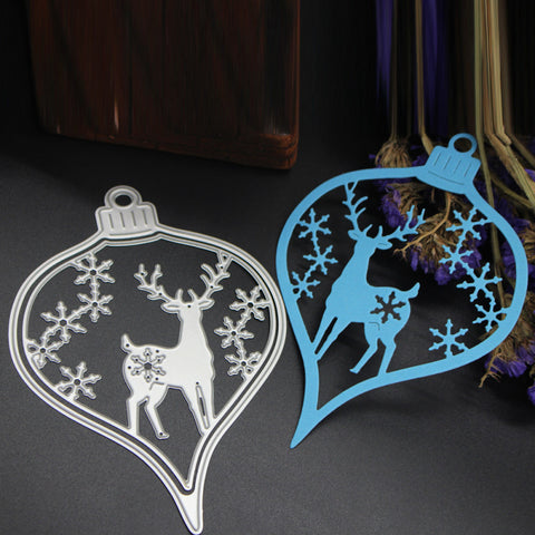 Reindeer and snowflake Bauble die