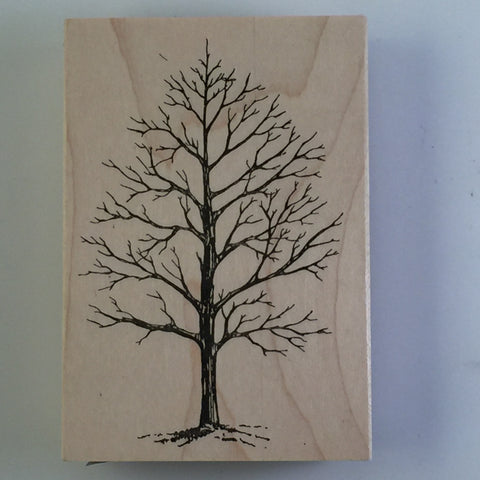 Winter Tree Wood Mounted Stamp