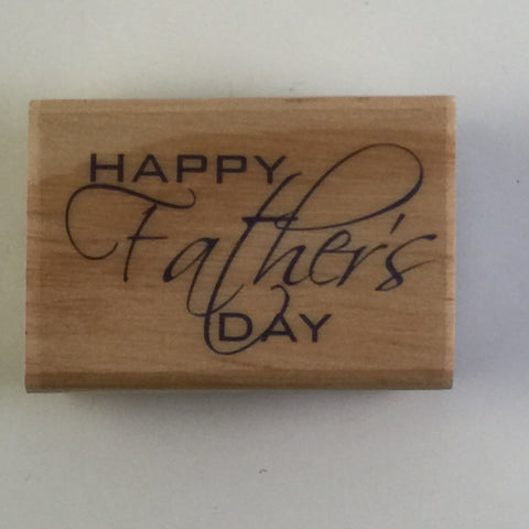 Fathers Day wood mounted stamp