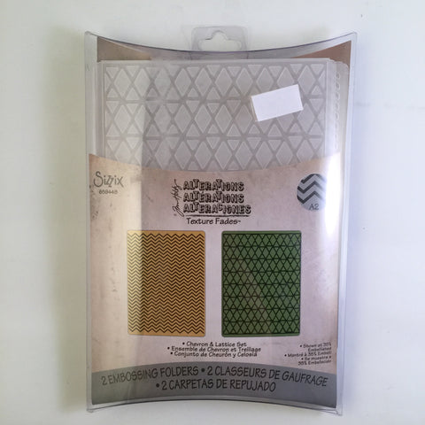 Chevron and Lattice Set Embossing Folder