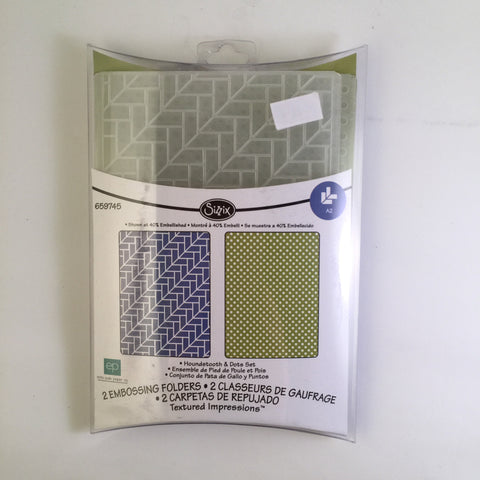 Houndstooth and Dots Embossing Folder