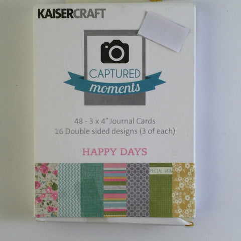 Captured Moments 3 x 4 Card Pack - Happy Days