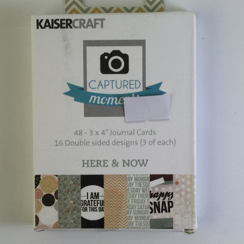 Captured Moments 3 x 4 Card Pack - Here and Now