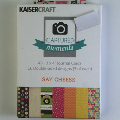 Captured Moments 3 x 4 Card Pack - Say Cheese
