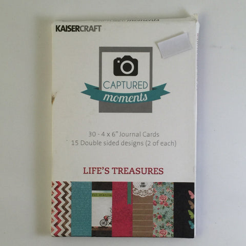 Captured Moments 6 x 4 Card Pack - Lifes Treasures