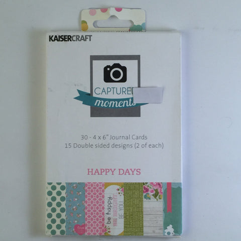 Captured Moments 6 x 4 Card Pack - Happy Days