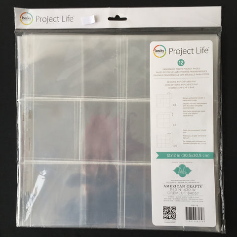 Project Life Panoramic Photo Pocket Pages