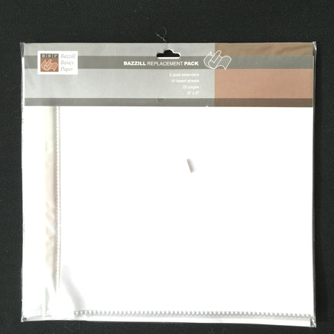 "8"" x 8"" Page Protectors Single Pocket with 2 Post Extenders"