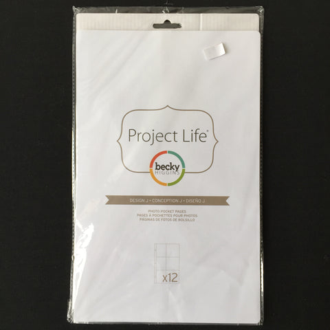 Project Life pack of Design J Pocket Pages