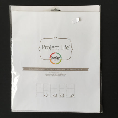 Project Life Small Variety Pack #1 Pocket Pages