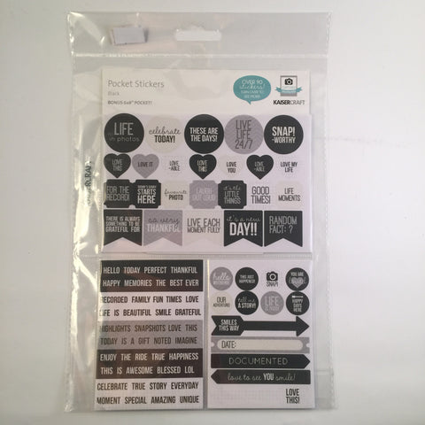 Pocket Stickers - Black