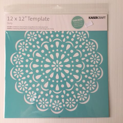 "Doily 12"" x 12"" Template"