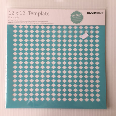 "Diamonds 12"" x 12"" Template"