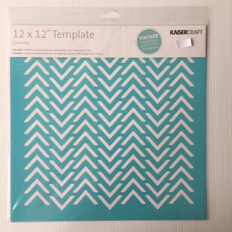 "Chevron 12"" x 12"" Template"