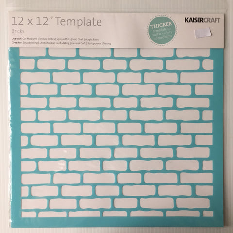"Bricks 12"" x 12"" Template"