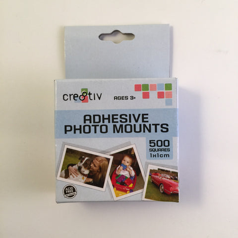 Cre8tiv Adhesive Photo Mounts 1 x 1 cm Pack of 500