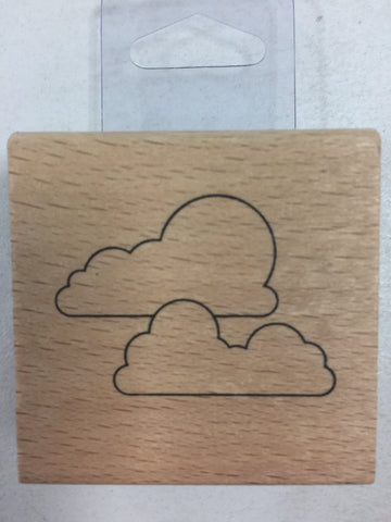 Cloud Watching Wooden Stamp