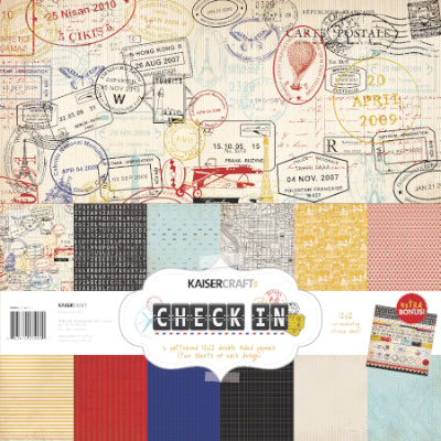 Check In Paper Pack with Bonus Sticker Sheet