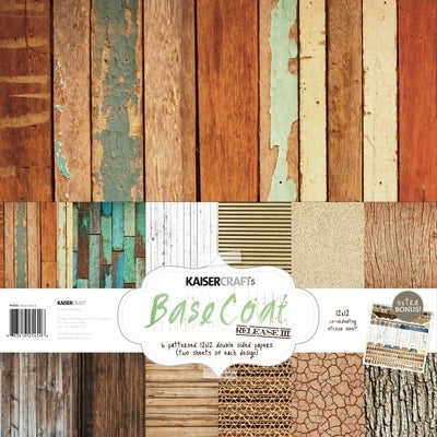 Base Coat 3 Paper Pack with Bonus Sticker Sheet