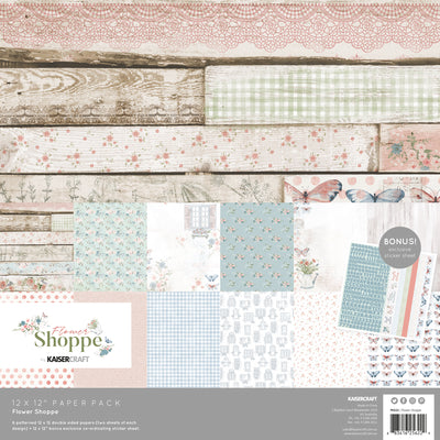 Kaisercraft Flower Shoppe Paper Pack with bonus Sticker Sheet