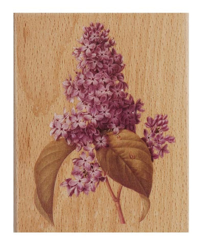Docrafts Lilac large Wooden Stamp by Tina Higgins