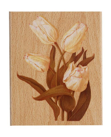 Docrafts Tulip large Wooden Stamp by Tina Higgins