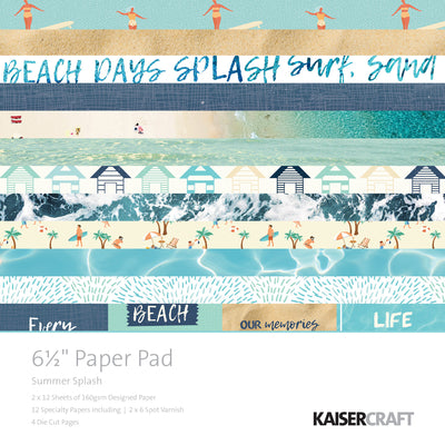 "6½"" x 6½"" Paper pad - Summer Splash"