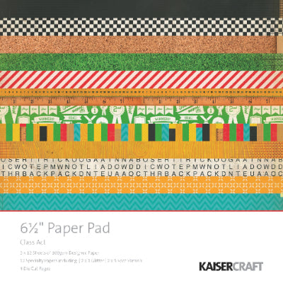 "Class Act 6.5"" Paper Pad"
