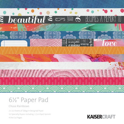 "Chase Rainbows 6.5"" Paper Pad"
