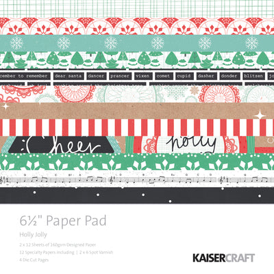 "Holly Jolly 6.5"" Paper Pad"