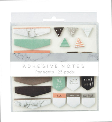 Adhesive Notes Pennants