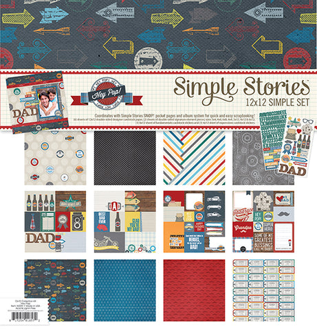 Hey Pop  Simple Set 12 x 12 Collection Kit  by Simple Stories