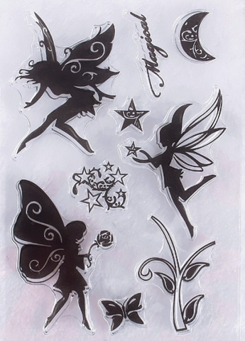 Magical fairy set of 9 stamps
