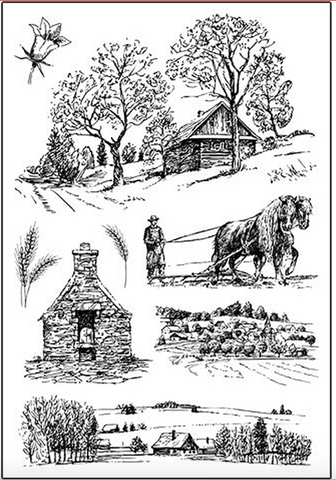 Country Farm set of 8 stamps