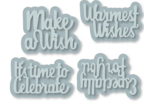 Set of 4 Sentiment dies and 4 background Dies