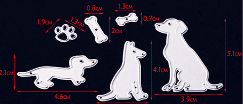 Set of 6 Doggy dies