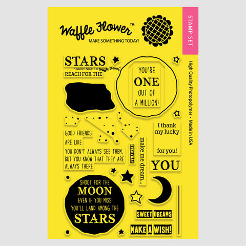 Waffle Flower Starry Night Stamp Set