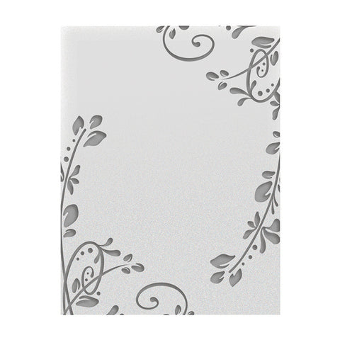 Flourished Corners- A2 Embossing Folder- Galleria Collection Ultimate Crafts