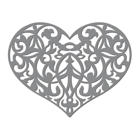 Ultimate Crafts- Invali Collection -Ornate Heart Dies