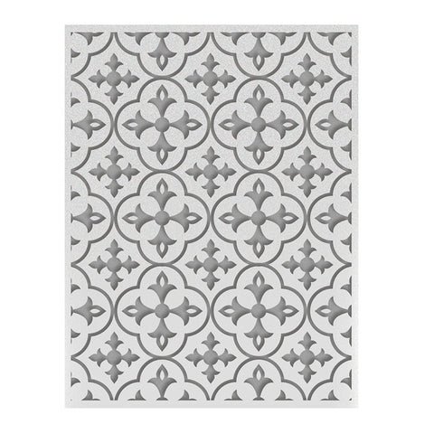 Calvin's Quatrefoil - A2 Embossing Folder - Ooh La La Collection
