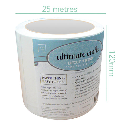 Diecut'N Bond (25m x 12cm | 82ft x 4.72in) - Ultimate Crafts