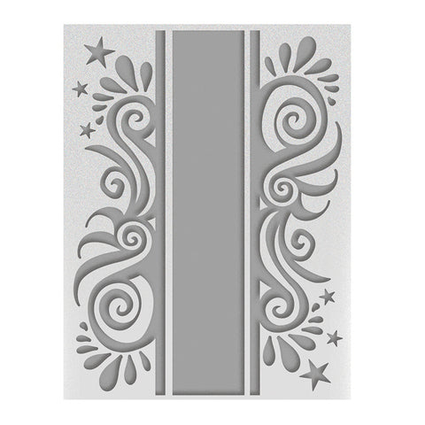 Christmas Ribbon  - A2 Embossing Folder - Season's Greetings Collection