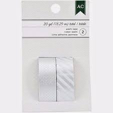 American Crafts  Silver Washi tape, 2pk