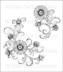 Delicate Twining Asters Stamp Heartfelt Creations