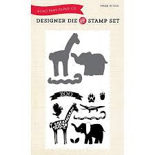 At the Zoo Die and Stamp Set from Echo Park