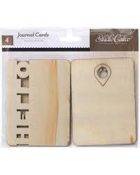 Studio Calico Wood Veneer Thataway Journaling Cards